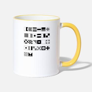 Nautical Nautical alphabet - Two-Tone Mug