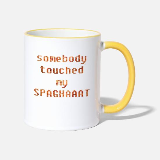 Gift Idea Mugs & Drinkware - Spaghetti spaghetti - Two-Tone Mug white/yellow