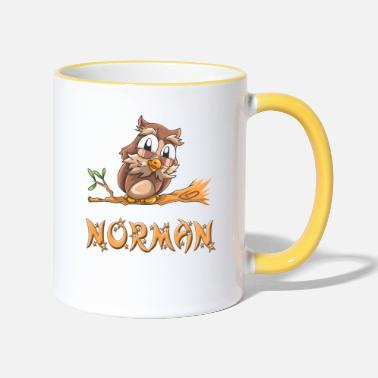 Norman Owl Norman - Two-Tone Mug
