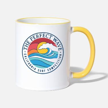 Perfect California Perfect Wave Summer Graphic - Two-Tone Mug