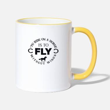 Fly To ride on a horse - Tasse zweifarbig