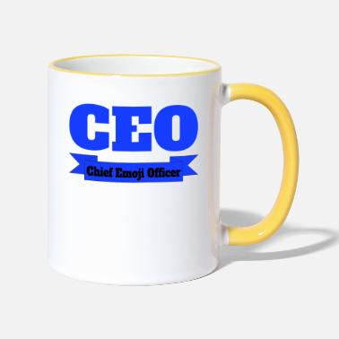 CEO - Chief Emoji Officer - Two-Tone Mug