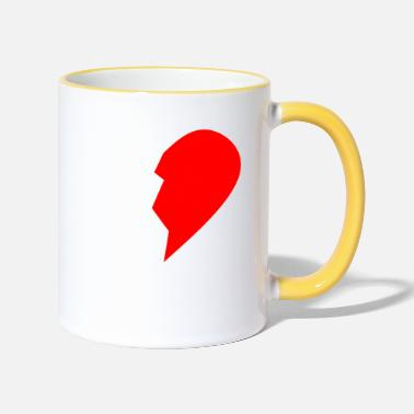Right HALF HEART RIGHT SIDE - Two-Tone Mug