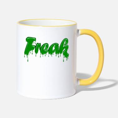Gloopy Writing Green Gloop Freak - Two-Tone Mug