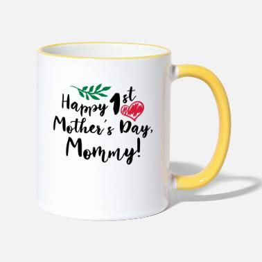 Happy Baby Gifts For All Mothers Day Gift Happy 1st Moth - Two-Tone Mug