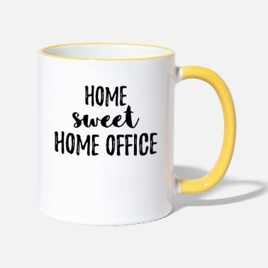 Office Home sweet home office gift for job in the office - Two-Tone Mug
