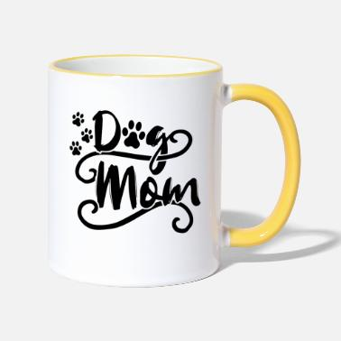 Dog Mom Dog dogs mom dog mom - Two-Tone Mug