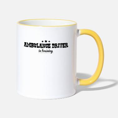 Ambulance ambulance driver in training - Two-Tone Mug