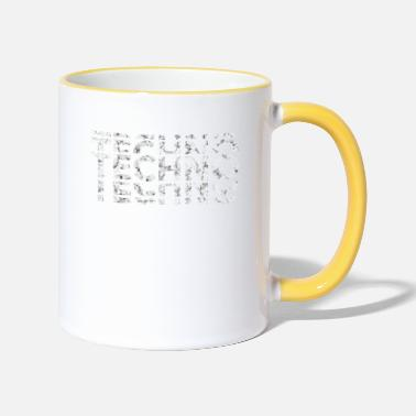Techno Bass Techno Music Bass Shirt - Two-Tone Mug