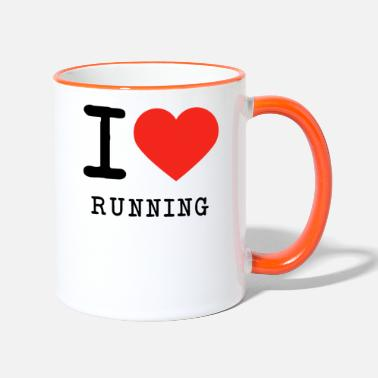 Running I love running - Two-Tone Mug