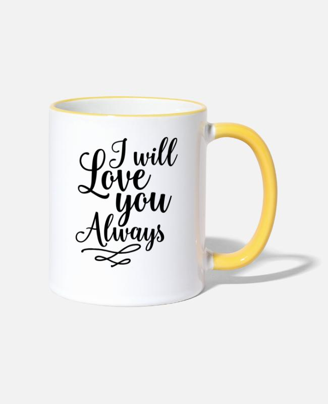 Toujours Mugs et tasses - Love You Always - Mug bicolore blanc/jaune