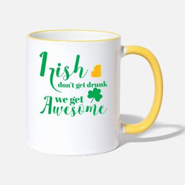 St St Patricks Day - Irish - Beer - Funny - Gift - Two-Tone Mug