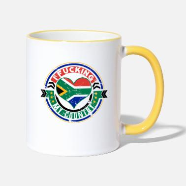 South Gift South Africa Africans I love my country - Two-Tone Mug