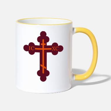 Orthodox cross orthodox - Two-Tone Mug