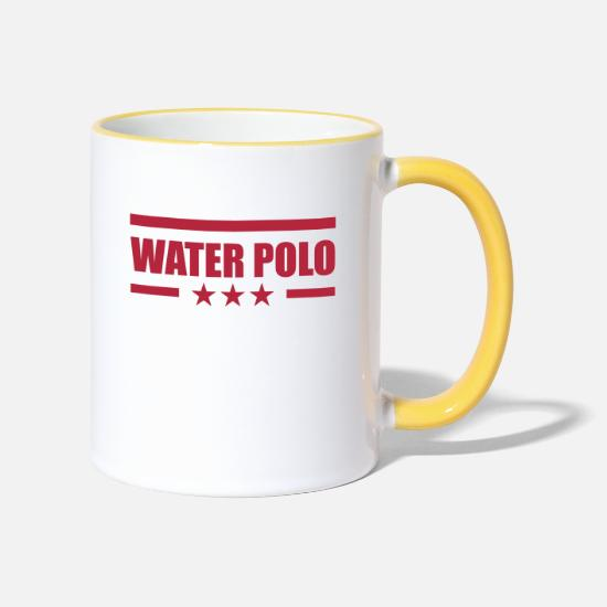 Waterpolo Mugs et récipients - Water Polo - Mug bicolore blanc/jaune