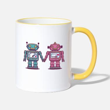 Collections Loving Robots - Mug bicolore