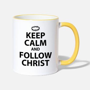 Christ Keep Calm and Follow Christ - Two-Tone Mug