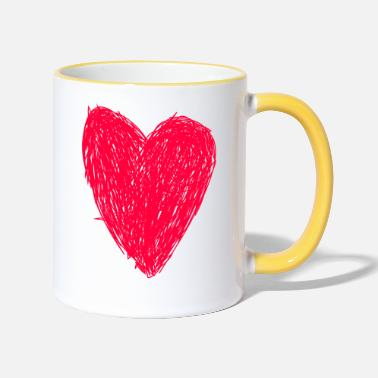 Red Red Heart - Two-Tone Mug