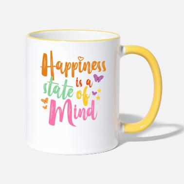 Typo Colorful outfit butterfly girl motive - Two-Tone Mug
