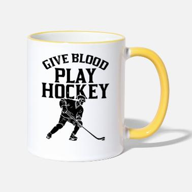 Give Blood Play Hockey - Tazza bicolor