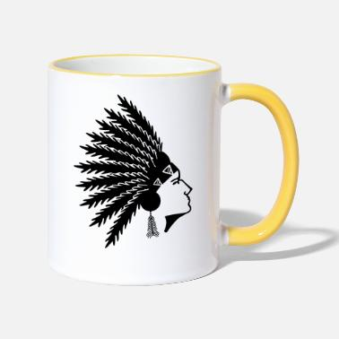 Native American native american - Two-Tone Mug
