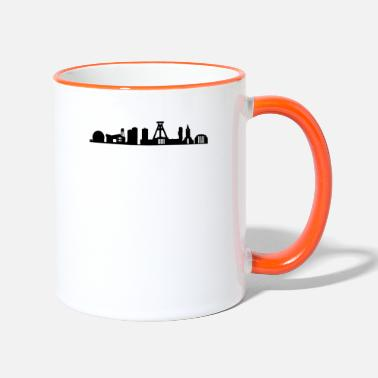 German Mining Museum Bochum Bochum skyline black - Two-Tone Mug