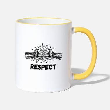 Mma respect mma free fight - Mug bicolore