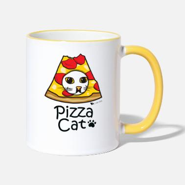 Nice Pizza Cat - Two-Tone Mug