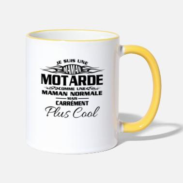 Maman Maman Motardes Mais Carrément Plus Cool - Mug bicolore