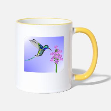 Crittercontest crittercontest Colorful Hummingbird - Two-Tone Mug