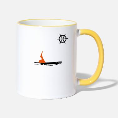Rudder rudder - Two-Tone Mug
