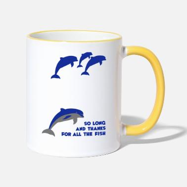 Galaxy So long and thanks for all the fish - Two-Tone Mug
