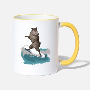 Funny Severn Boar - Two-Tone Mug