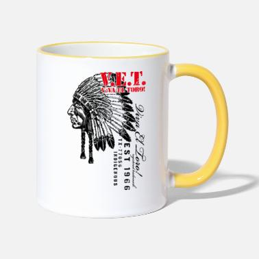 Indigenous Viva El Toro! Sitting Bull For The Indigenous - Tasse zweifarbig