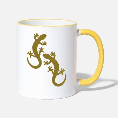 Two two geckos - Two-Tone Mug