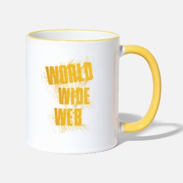 World Wide Web World wide Web - Tasse zweifarbig