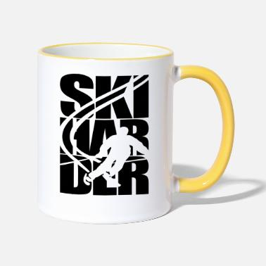 Ski Resort Ski skier ski resort area skiing - Two-Tone Mug