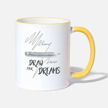 Pencil Dreams - Tasse zweifarbig