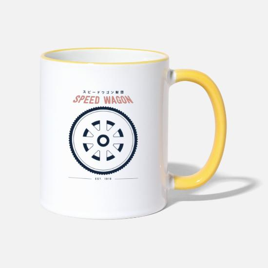 Jonathan Mugs et récipients - Fondation Speed Wagon - Mug bicolore blanc/jaune