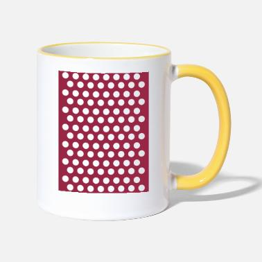 Pointes points points - Mug bicolore