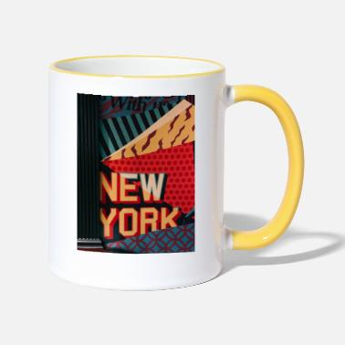 New York - Tazza bicolor
