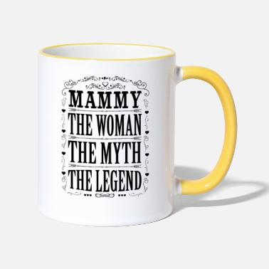 Mammy The Legend Mammy The Legend... - Two-Tone Mug