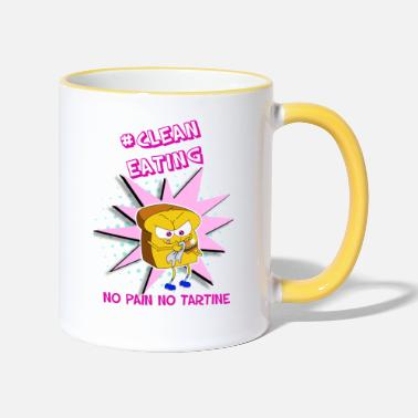 Eat Clean Clean Eating - Two-Tone Mug