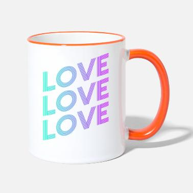 Love Hurts LOVE SHIFT GRADIENT BLUE PURPLE - Tasse zweifarbig