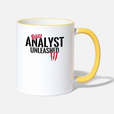 Data Unleashed wild analyst - Contrasting Mug