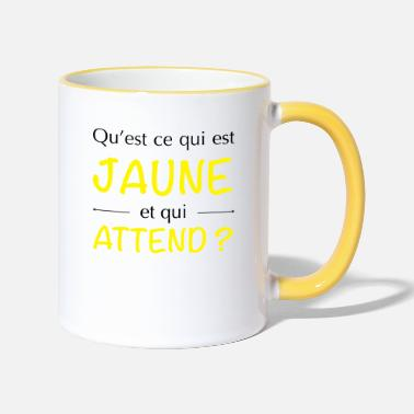 Jaune JAUNE ATTEND - Mug bicolore