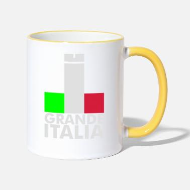 Football Underwear Italia Italy flag - grande italia - provocative - Two-Tone Mug