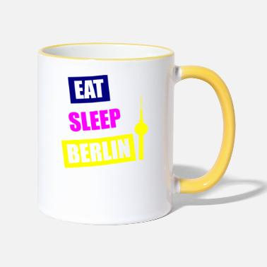 EAT SLEEP BERLIN BUNT - Tasse zweifarbig