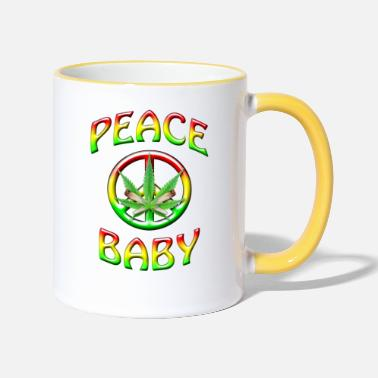 Ban The Bomb Peace Baby - Two-Tone Mug