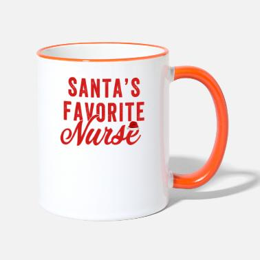 Favorite Nurse Santa's Favorite Nurse - Two-Tone Mug